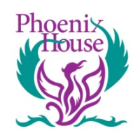 phoenix house logo picture of a purple phoenix with green wings
