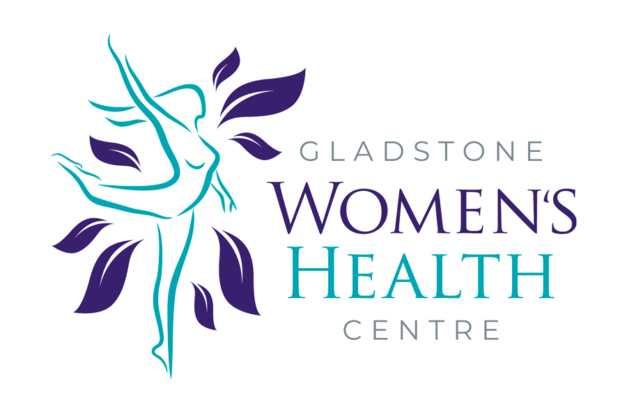 Gladstone Women's Health Centre - female figure dancing with leaves around her