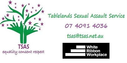 image of two green hands making a tree with purple stars - tablelands sexual assault service stands for equality consent and respect