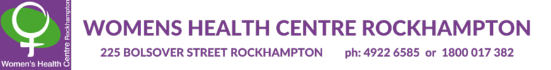 Womens health centre rockhampton logo purple and green female symbol